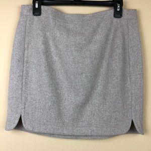 EUC J. Crew Shirttail Skirt in Wool